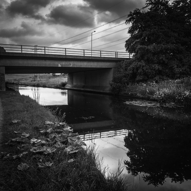 """Leeds to Liverpool Canal"" stock image"