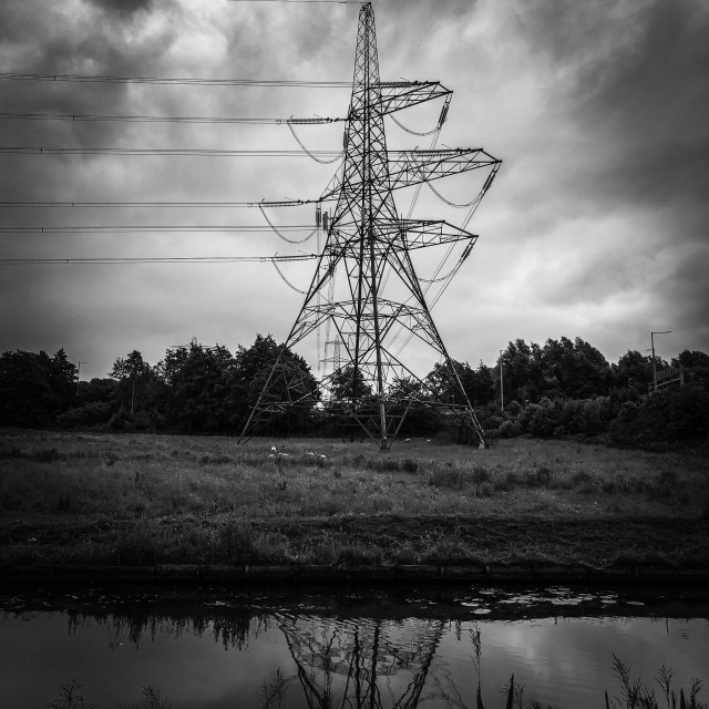 """Electricity pylons"" stock image"