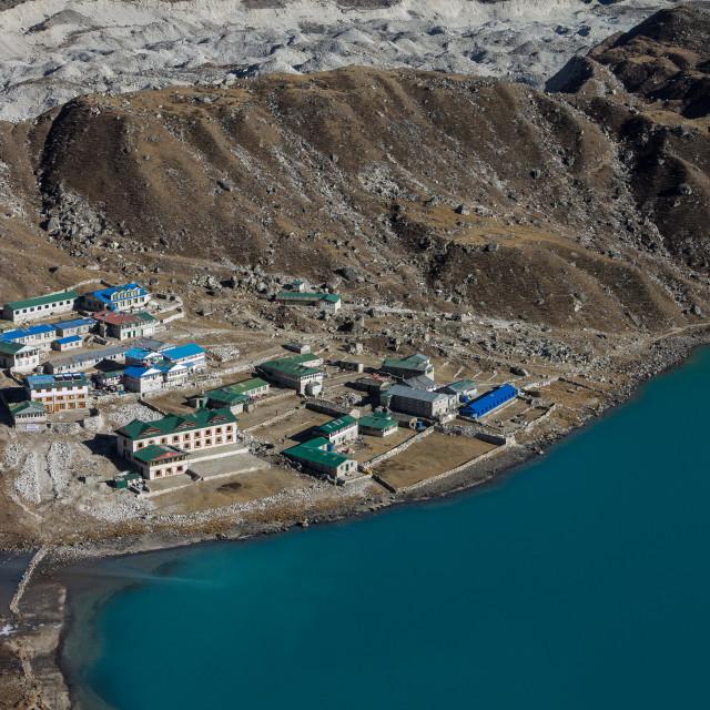 """Gokyo. Everest Region Trek, Nepal."" stock image"