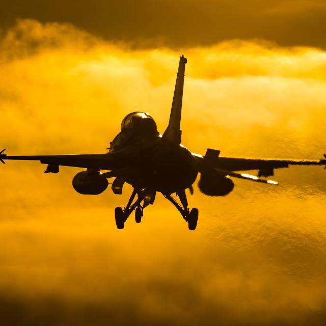 """Sunset landing"" stock image"