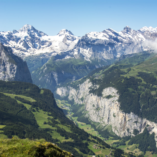 """The Lauterbrunen Valley"" stock image"