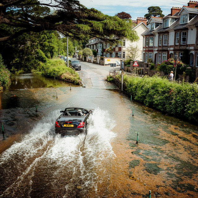 """""""The ford at Sidmouth"""" stock image"""