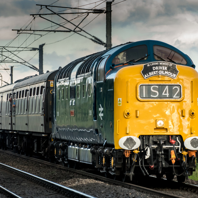 """""""The Deltic"""" stock image"""