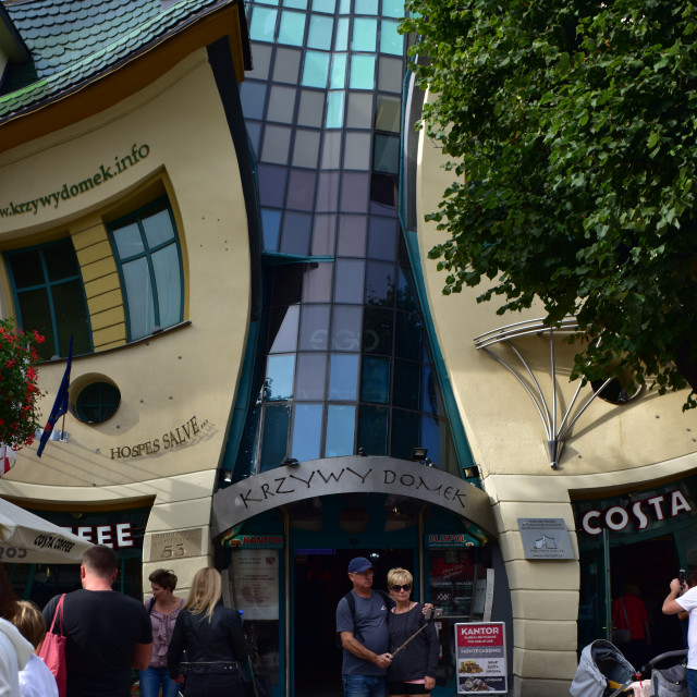 """Crooked Building, Sopot, Poland"" stock image"