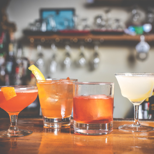 """""""Four cocktails"""" stock image"""