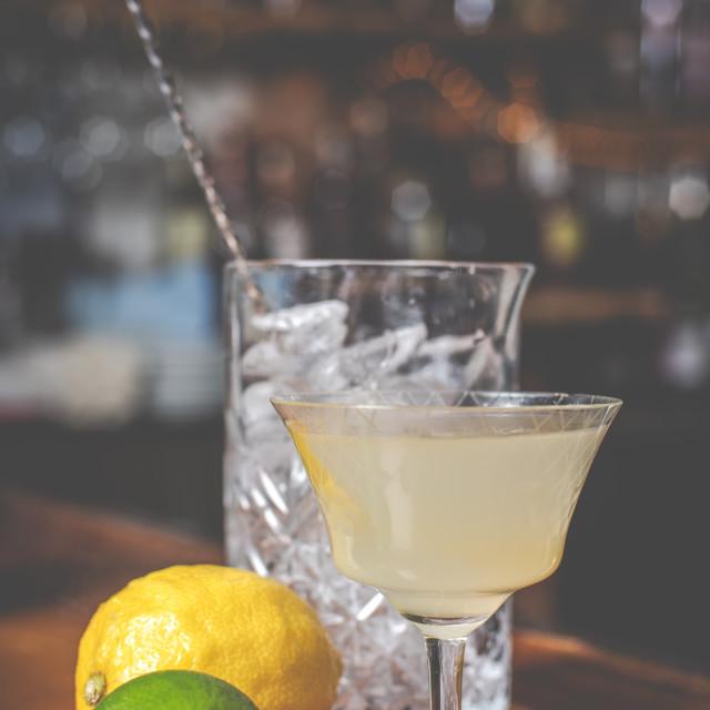 """""""Lemon and lime cocktail"""" stock image"""