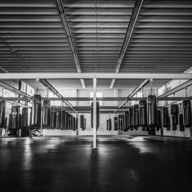 """Boxing gym"" stock image"
