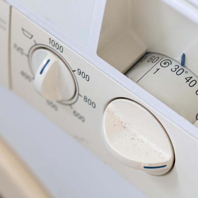 """Old dirty washing machine"" stock image"