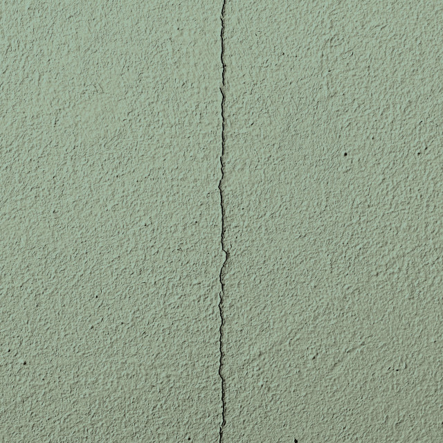 """Fragment of an old green cracked wall"" stock image"