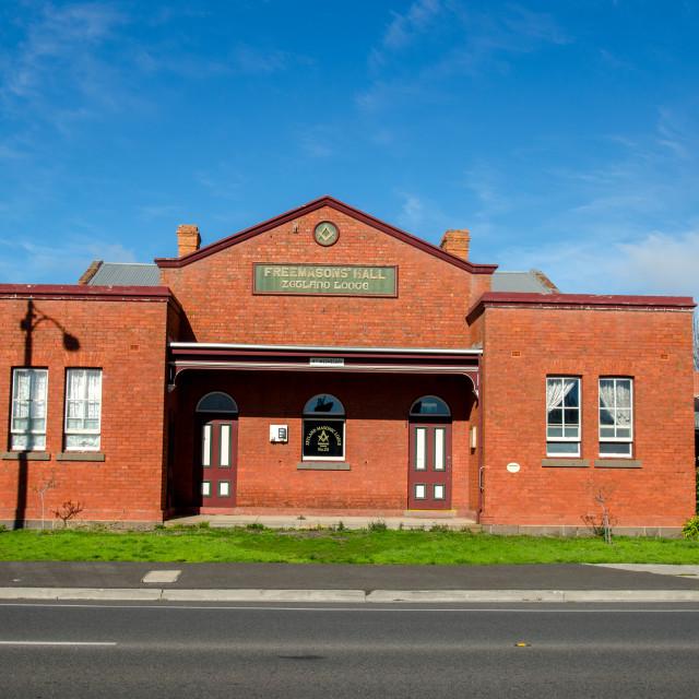 """Masonic Hall"" stock image"