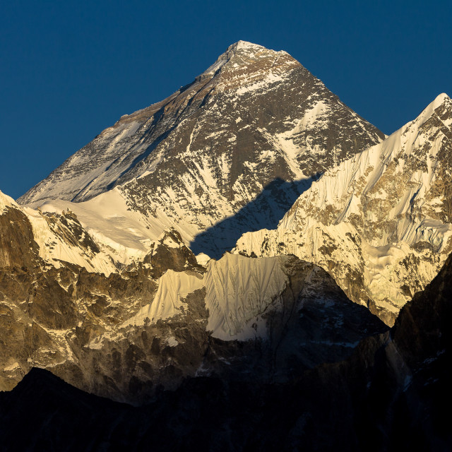 """Mount Everest seen from Gokyo Ri"" stock image"