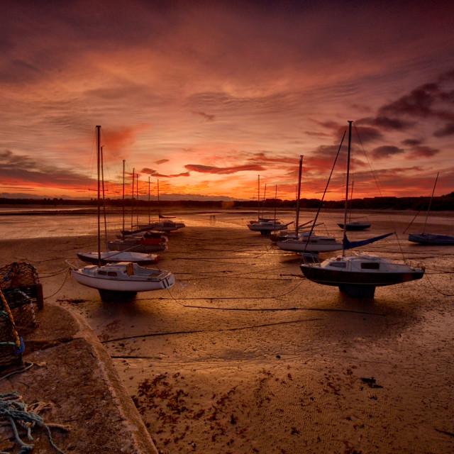 """Beadnall Bay Sunset"" stock image"