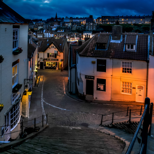 """""""Whitby, the 199 Steps"""" stock image"""