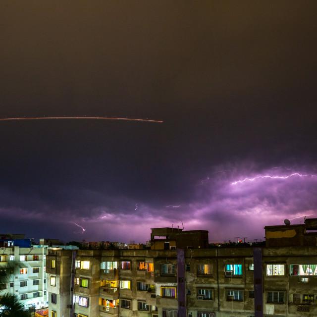 """""""Wrath of Zeus - Kolkata"""" stock image"""