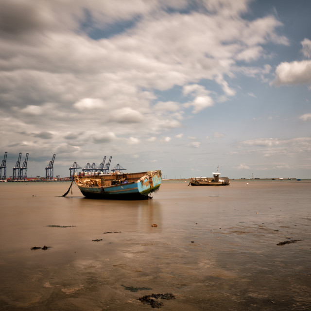 """""""Harwich Beach Low Tide"""" stock image"""