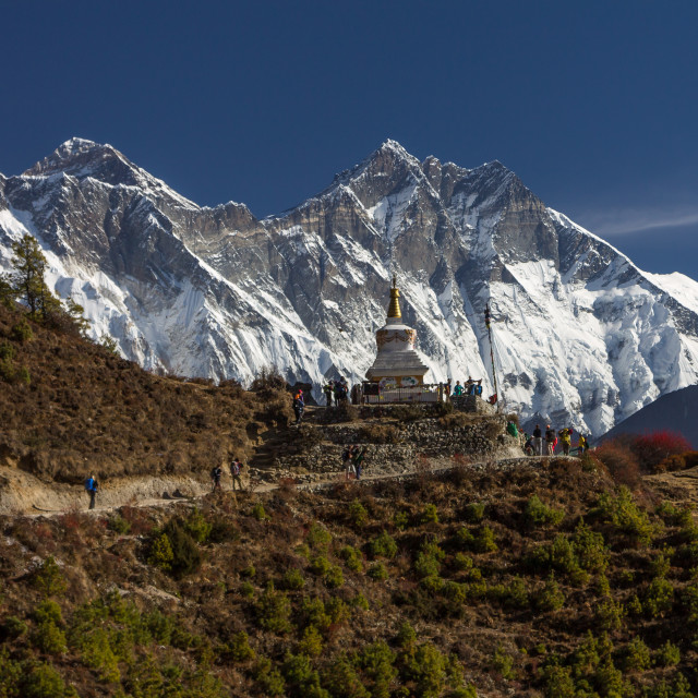 """Traverse above Namche Bazaar en-route to Everest Base Camp"" stock image"