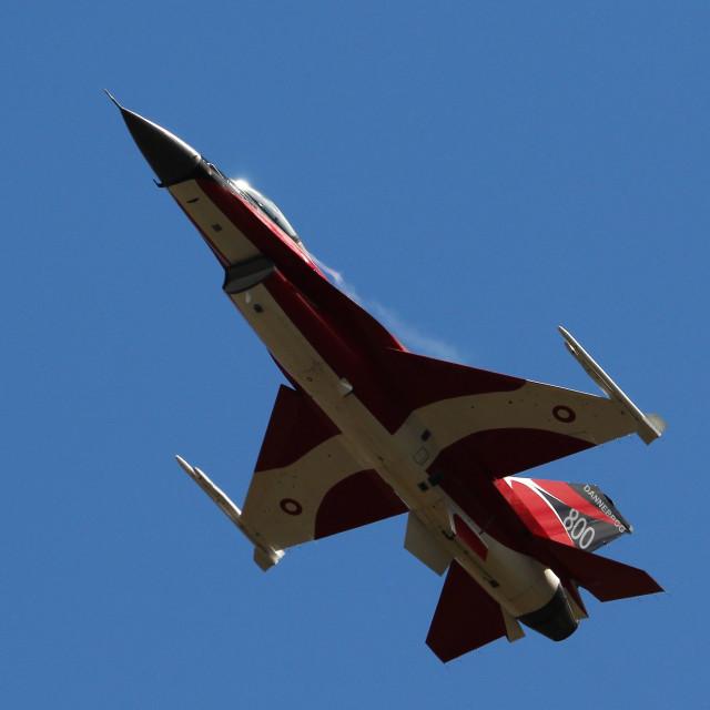 """F-16 E-191 Dannebrog 800"" stock image"