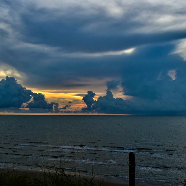 """Tusan Beach, Miri Sunset"" stock image"