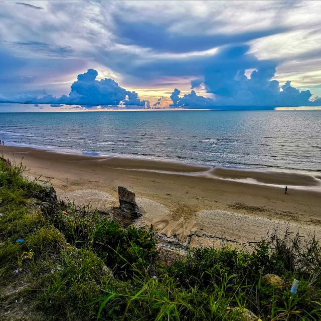 """Tusan Beach Miri, Sunset"" stock image"