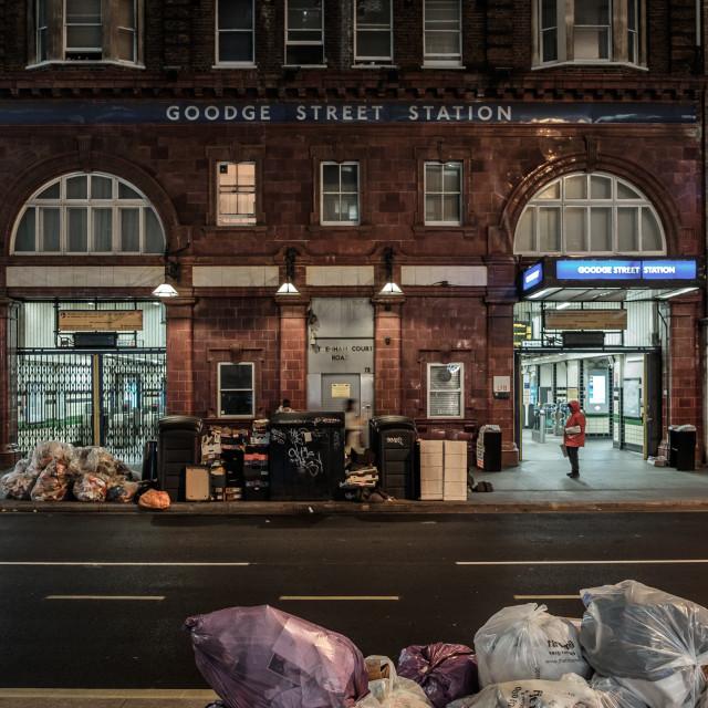 """""""Bin day in London"""" stock image"""