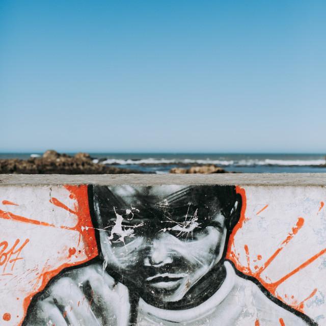 """""""Graffiti boy"""" stock image"""