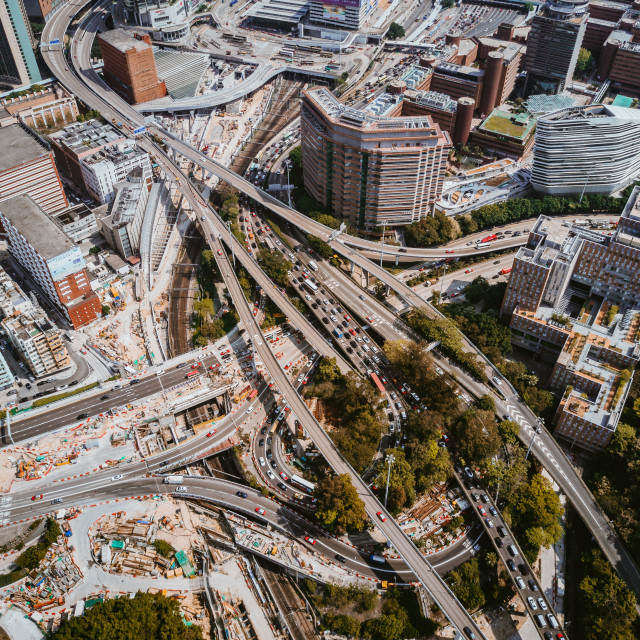 """""""Hong Kong Intersection"""" stock image"""