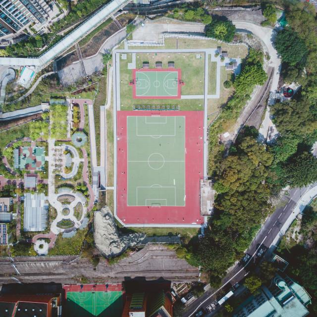 """""""Hong Kong Football Pitch"""" stock image"""