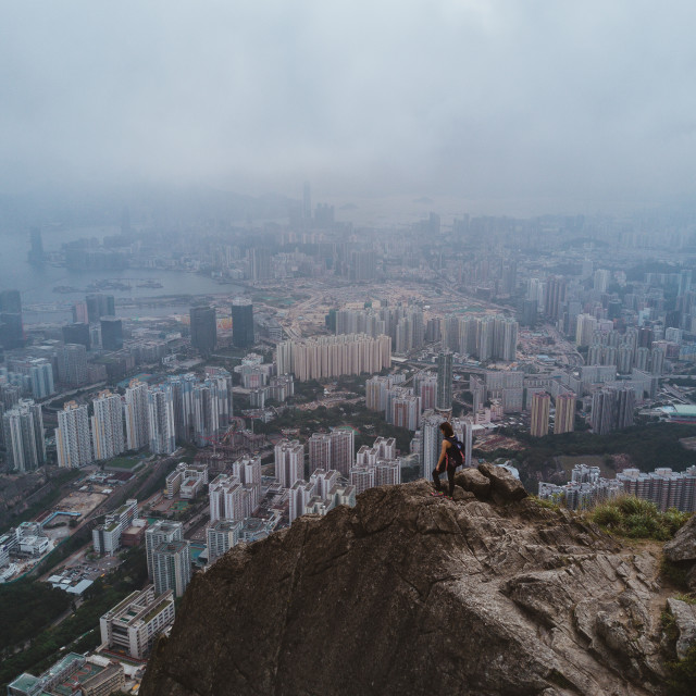 """Hiking Hong Kong Kowloon Peak"" stock image"
