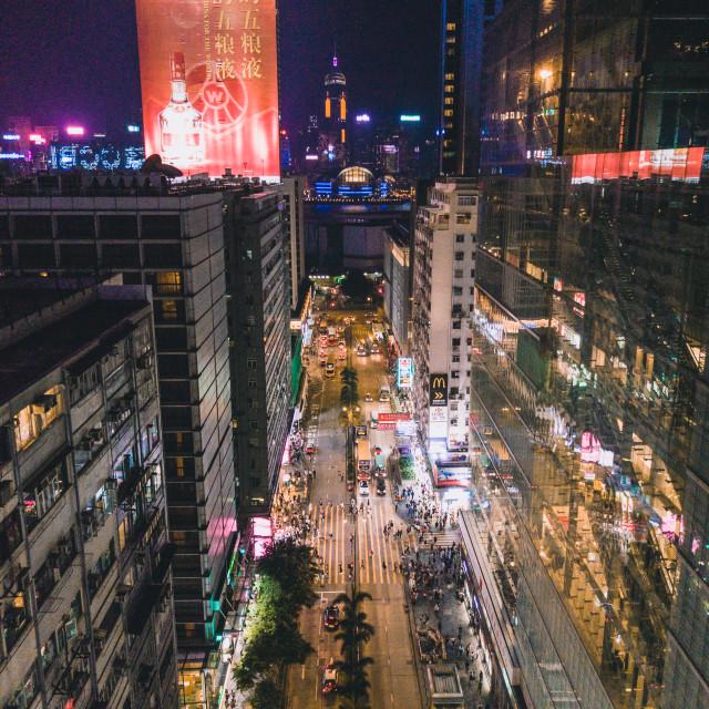"""Hong Kong Night Cityscape"" stock image"