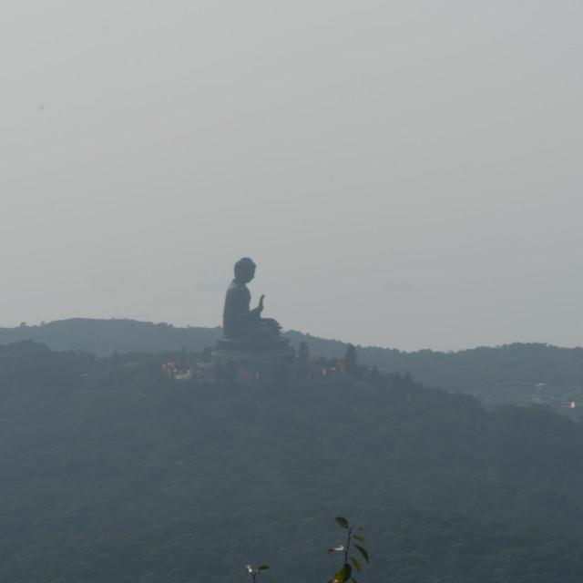 """Hong Kong Lantau island Buddha Statue"" stock image"