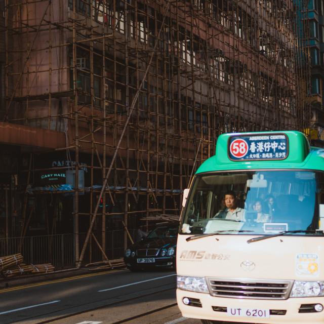 """""""Hong Kong Local minibus"""" stock image"""