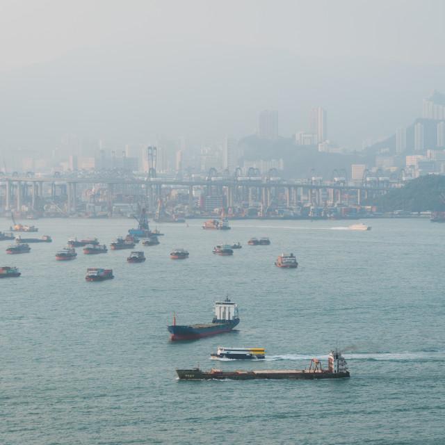 """""""Hong Kong Sea"""" stock image"""