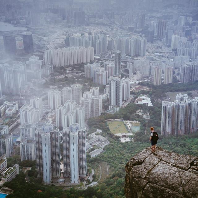"""""""Hong Kong Hiking"""" stock image"""