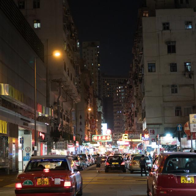 """Hong Kong Taxi"" stock image"