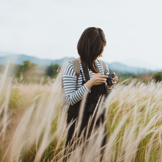 """Hong Kong Grasslands Photographer"" stock image"