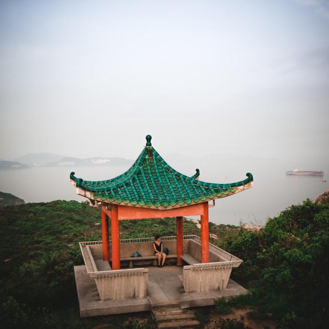 """""""Pagoda Lamma Island Hong Kong"""" stock image"""
