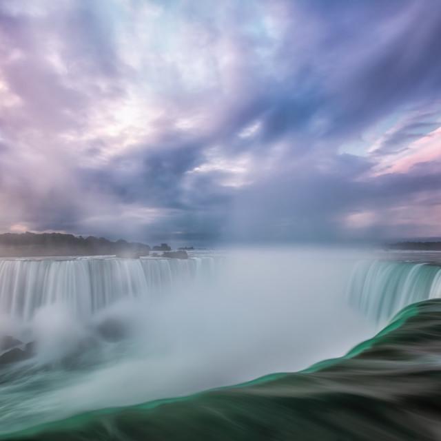 """Niagara Falls Sunrise"" stock image"