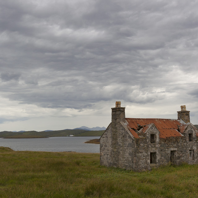 """The deserted house, Isle of Lewis"" stock image"