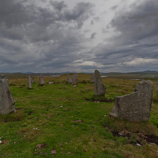 """Calanais III stone circle, Isle of Lewis"" stock image"