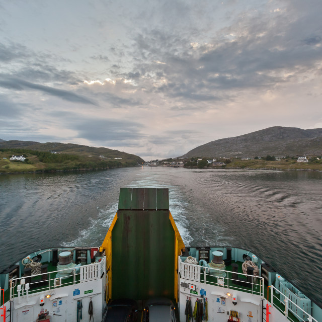 """Departing from Tabert, Isle of Harris"" stock image"