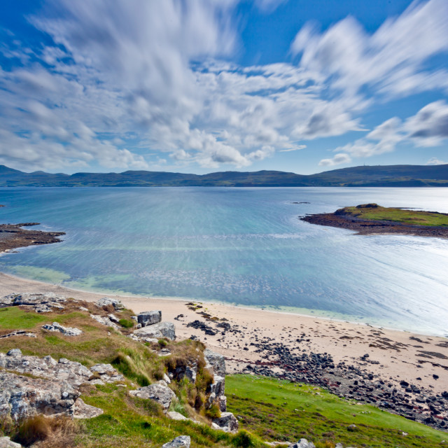 """The coral beach near Claigan, Isle of Skye"" stock image"