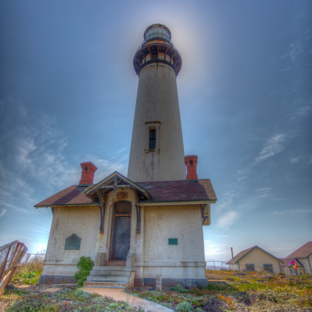 """""""Lighthouse in half moon bay"""" stock image"""