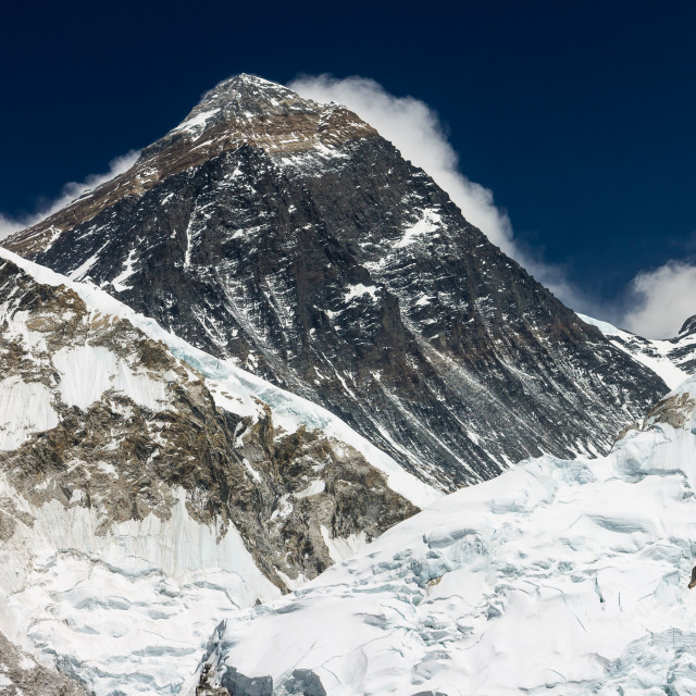"""""""Mt. Everest seen from the top of Kala Patthar peak"""" stock image"""