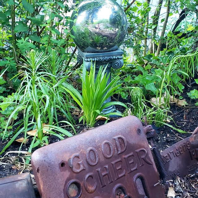 """""""A creative Canadian garden"""" stock image"""