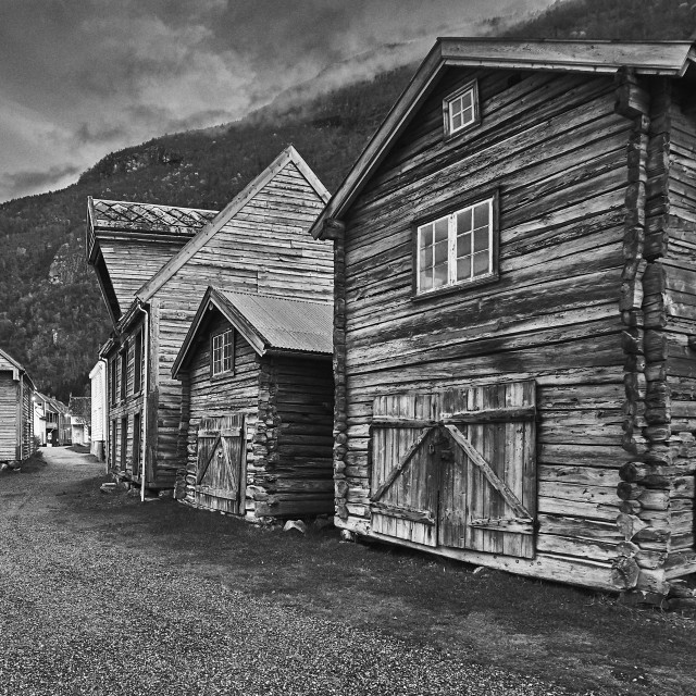 """Old Town Lærdal - No. 2"" stock image"