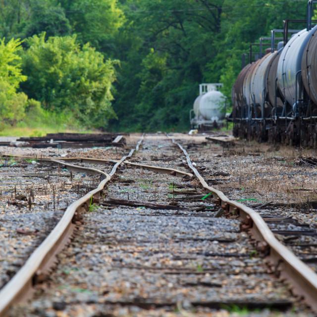 """Abandoned Railroad"" stock image"