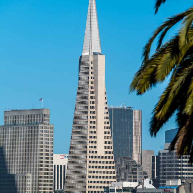 """""""San Francisco Pyramid Tower"""" stock image"""