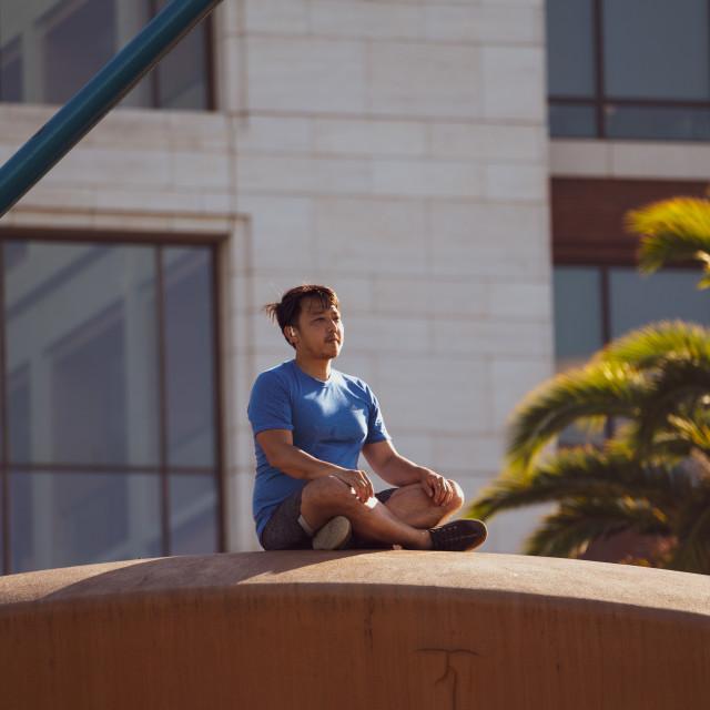 """San Francisco Meditation"" stock image"