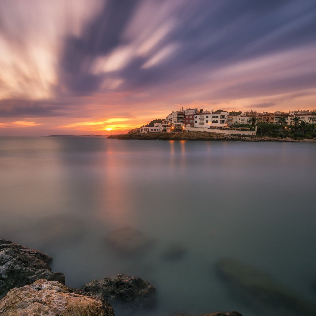 """""""Sunset at the sea"""" stock image"""