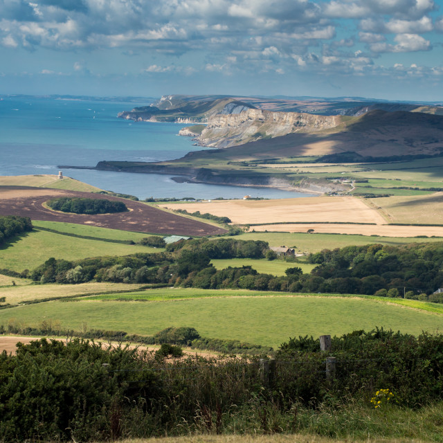 """""""Purbeck View"""" stock image"""